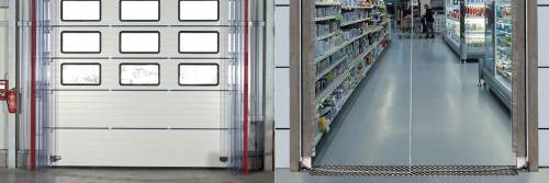 Zložljiva PVC vrata večjih dimenzij